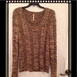 FREE PEOPLE CABLE KNIT PULLOVER SWEATER