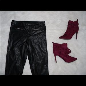 Black Faux Leather Pants 45