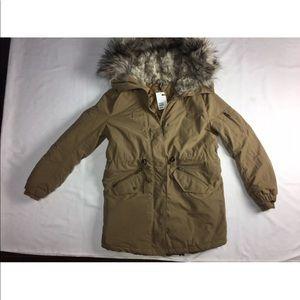 H&m Parka fur jacket size 8 BNWT