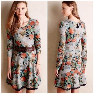 ANTHROPOLOGIE | Saturday Sunday Terry Floral Dress