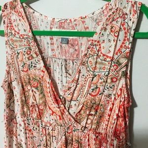 Old navy paisley maternity maxi dress size medium