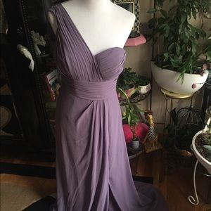 One shoulder braidsmaid dress, size 8, worn once