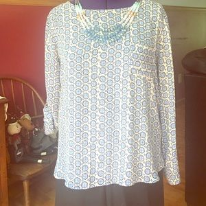 Loft long or 3/4 sleeve top