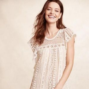 Maeve crocheted dress in ivory