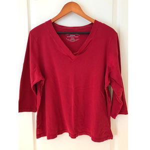 Avenue Ultimate V-neck Red T-shirt 22/24