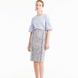 pencil skirt in lightweight tweed