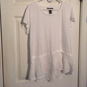 Style & Co White Peplum Top never worn