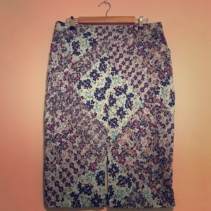 Colorful Anthropologie Pencil Skirt