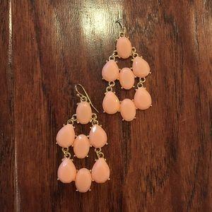 Jewelry - Peach Chandelier earrings