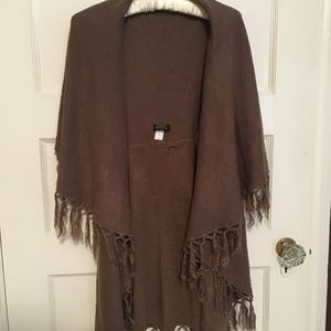 Sweaters - Sweater poncho with arm opening