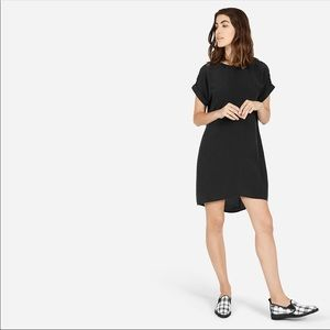Everlane Silk Shirt Sleeve Dress