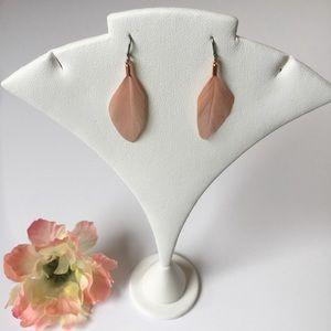 Jewelry - Pink Feather Earrings