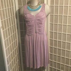 Purple Gathered Kensie Modal Dress