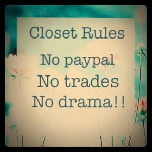Rules for Shopping In My Closet