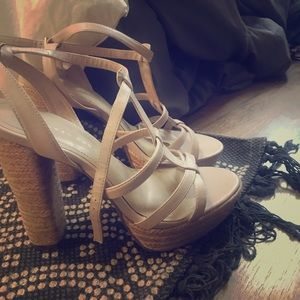 Lauren Conrad heel wedges strappy