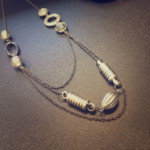 Gunmetal Layered Chain Necklace