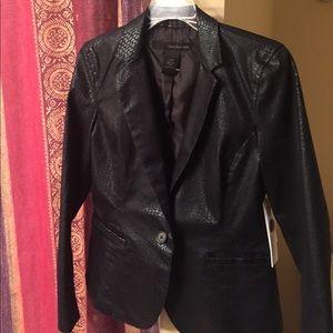 Brand new black Calvin Klein leather blazer
