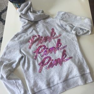 Pink Sequence Hoodie