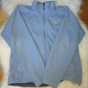 The north face light blue wind wall zip up sz M