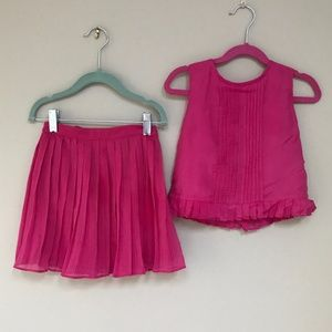 Other - Designer hot pink fancy girl's outfit size 4