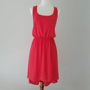 Needle & Thread high low coral dress