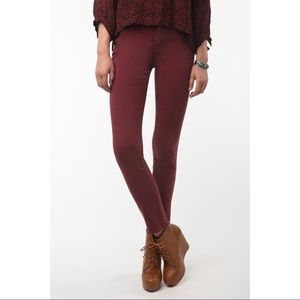BDG SIZE 26 high rise cigarette ankle red jeans