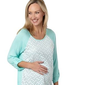 Maternity Zig Zag Lace Top