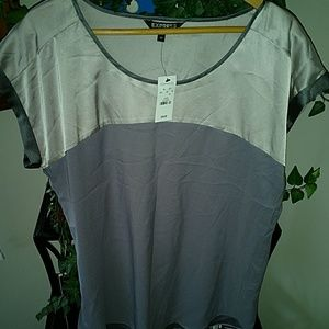 NWT two tone gray Express Shirt