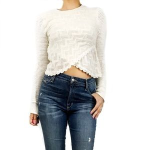 Free people knit crop sweater