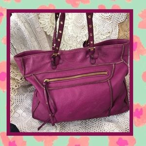 Steve Madden Purple Shoulder Tote USED CONDITION