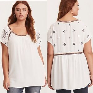 Torrid Embroidered Top