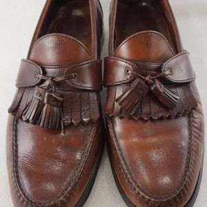 Allen Edmonds 11.5C Burgundy Tassel Loafer Mens