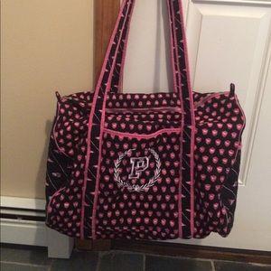 Vintage vs pink duffle bag