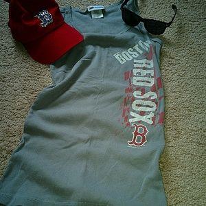 Boston Red Sox Gray Tank Top