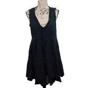 Anthropologie Black & White Polka Dot Dress