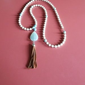Jewelry - A handcrafted tassel necklace I made.