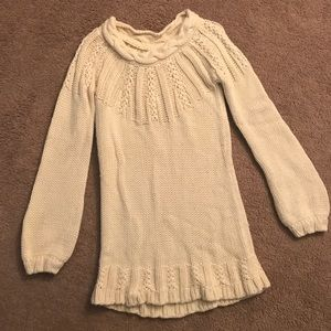 Oversized Creme Knit Sweater