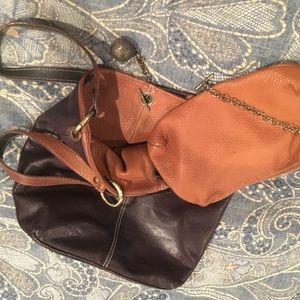 Avorio Pebbled Leather Bucket Bag