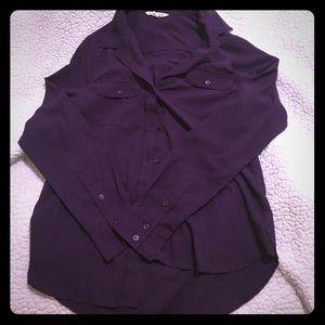 American Eagle purple button down shirt.