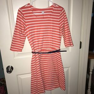 Orange/White stripe dress