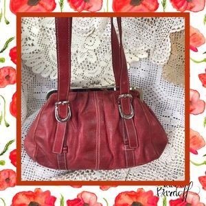 Wilsons Leather Red Purse USED CONDITION