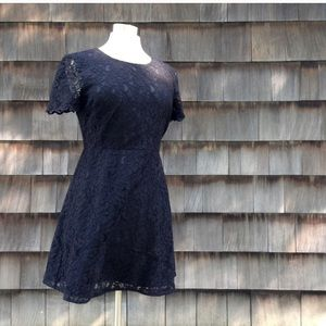 *NWT J. Crew black Lace Cocktail Dress*