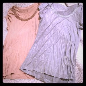 Two juicy couture glittery tops