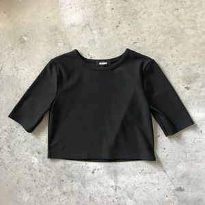 Missguided Black Crop Top // Size 6