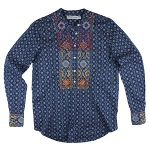 ARTISAN DE LUXE Embroidered Popover Tunic Shirt