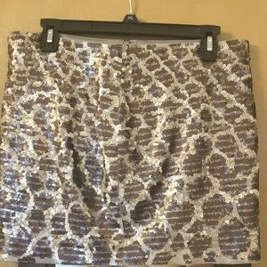Express sequins mini skirt.