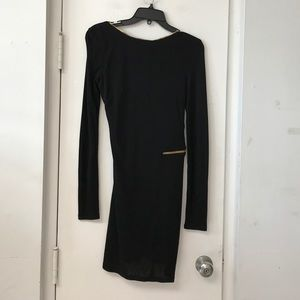 New ABS Allen Schwartz SZ S Black Zippered Dress