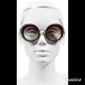 Miu Miu 64MM Round Overlay Sunglasses