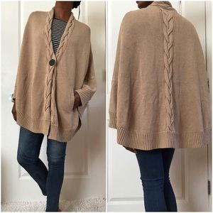 Ugg Australia Anjelina Cable Knit Cape in Taupe
