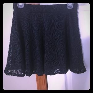 Navy Aero lace skirt.  Size small